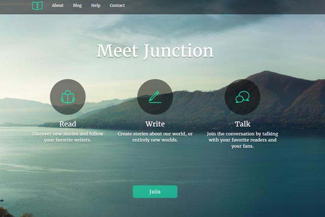 Junction, Fullscreen Image Web page Project